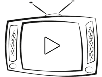 Video - TV with play button